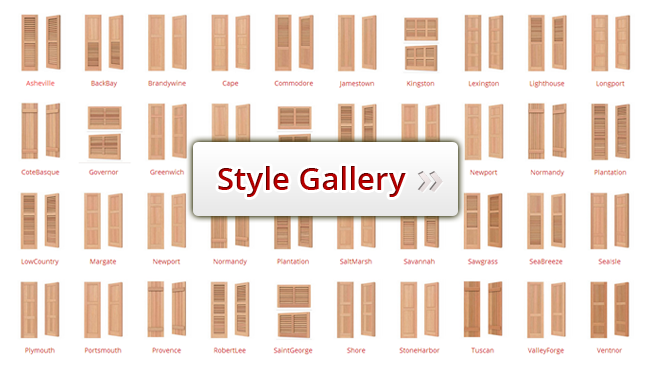 exterior shutters style gallery