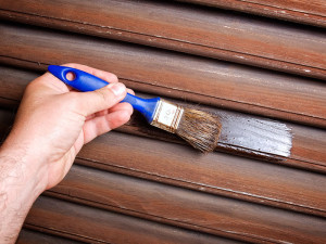 stripping and repainting old shutters