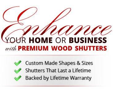 Custom Made Premium Wood Shutters